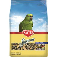 Kaytee Supreme Parrot Bird Food, 5-lb bag