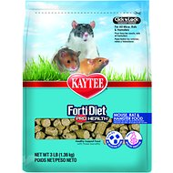 Kaytee Forti-Diet Pro Health Dental Health Mouse, Rat & Hamster Food, 3-lb bag