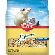 Kaytee Supreme Fortified Daily Diet Rat & Mouse Food, 4-lb bag