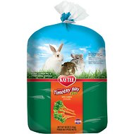 Kaytee Timothy Hay Plus Carrots Small Animal Food, 48-oz bag