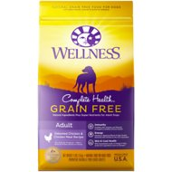 Wellness Grain-Free Complete Health Adult Deboned Chicken & Chicken Meal Recipe Dry Dog Food, 24-lb bag