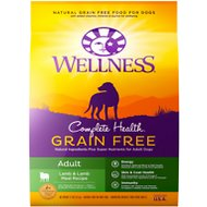 Wellness Grain-Free Complete Health Adult Lamb & Lamb Meal Recipe Dry Dog Food, 12-lb bag