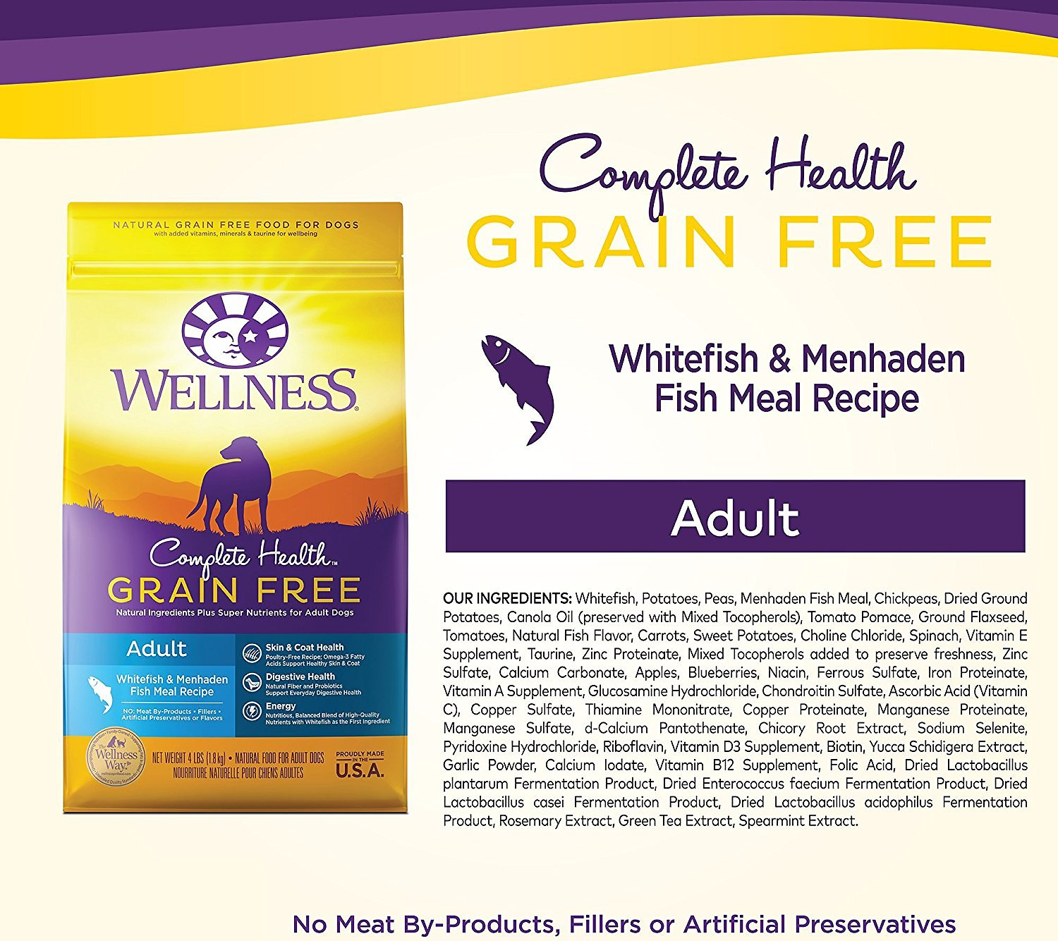 Health Fish Grain Free Whitefish Dry Dog Food
