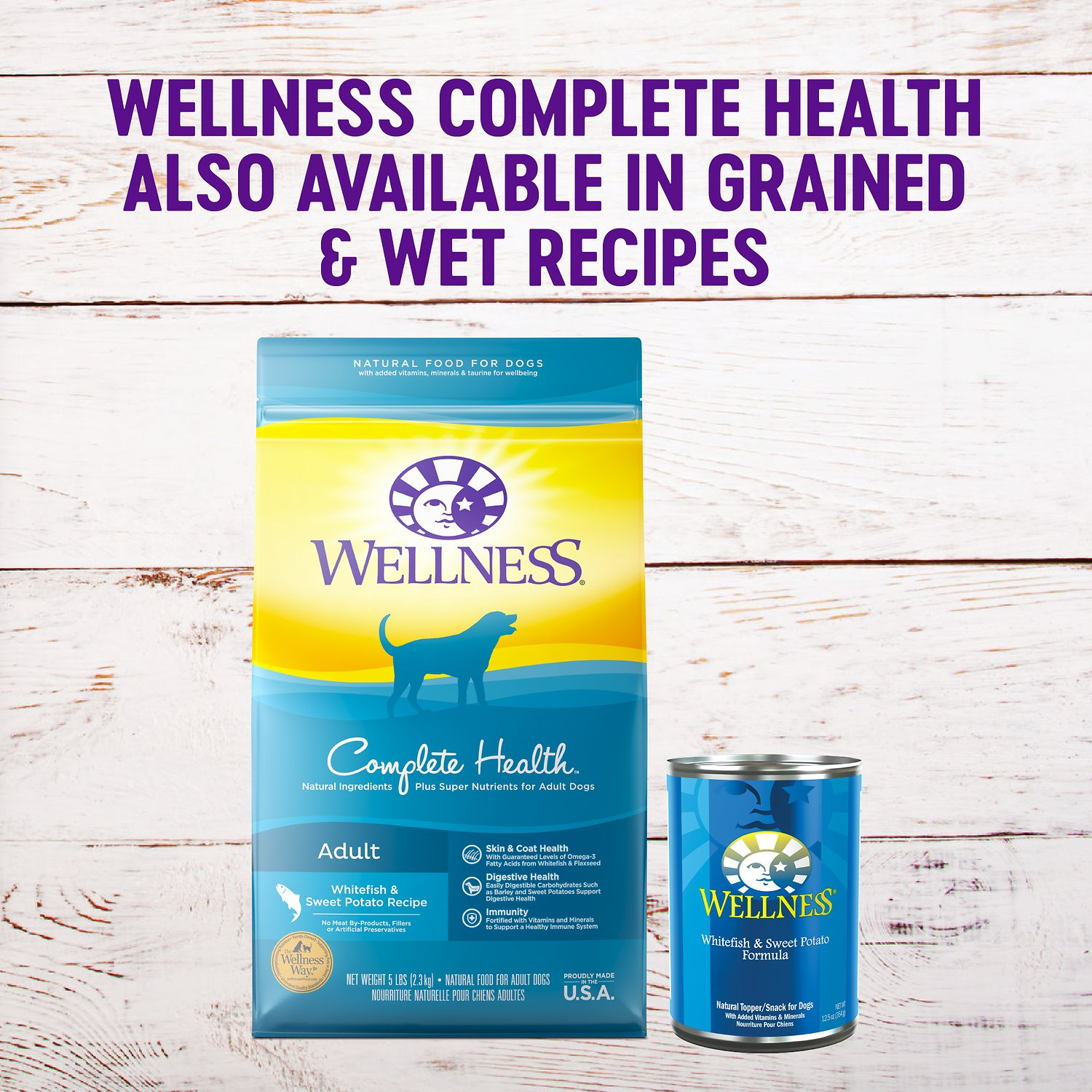 Wellness Grain Free Complete Health Adult Whitefish