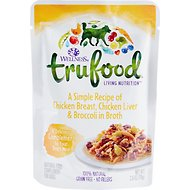 Wellness TruFood Chicken Breast, Chicken Liver & Broccoli in Broth Grain-Free Dog Food Topper, 2.8-oz, case of 24