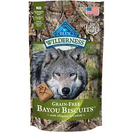 Blue Buffalo Wilderness Bayou Biscuits with Alligator & Catfish Grain-Free Dog Treats, 8-oz bag