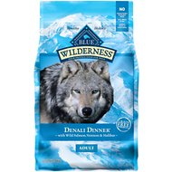 Blue Buffalo Wilderness Denali Dinner with Wild Salmon, Venison & Halibut Grain-Free Dry Dog Food, 4-lb bag