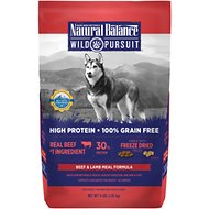 Natural Balance Wild Pursuit Beef & Lamb Meal Formula Grain-Free Dry Dog Food, 4-lb bag