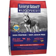 Natural Balance Wild Pursuit Beef & Lamb Meal Formula Grain-Free Dry Dog Food, 22-lb bag