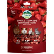 Oxbow Simple Rewards Freeze-Dried Strawberry Small Animal Treats, .5-oz bag