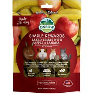 Oxbow Simple Rewards Oven Baked with Apple & Banana Small Animal Treats, 3-oz bag