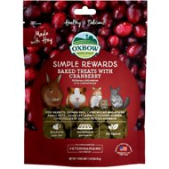 Oxbow Simple Rewards Oven Baked with Cranberry Small Animal Treats, 3-oz bag