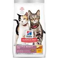 Hill's Science Diet Adult Multiple Benefit Chicken Recipe Dry Cat Food, 7-lb bag