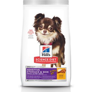 Hill's Science Diet Adult Sensitive Stomach & Skin Small & Mini Breed Chicken Recipe Dry Dog Food, 15-lb bag