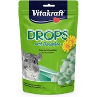 Vitakraft Drops with Dandelion Chinchilla Treats, 5.3-oz bag