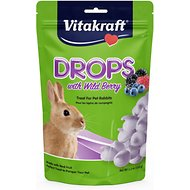Vitakraft Drops with Wildberry Rabbit Treats, 5.3-oz bag