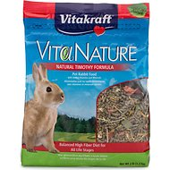 Vitakraft VitaNature Natural Timothy Rabbit Food, 3-lb bag