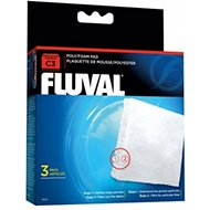 Fluval C3 Poly/Foam Pad Filter Media, 3 count