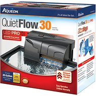 Aqueon QuietFlow Fresh & Saltwater Aquarium Filter, 45-gal