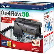 Aqueon QuietFlow Fresh & Saltwater Aquarium Filter, 50-gal