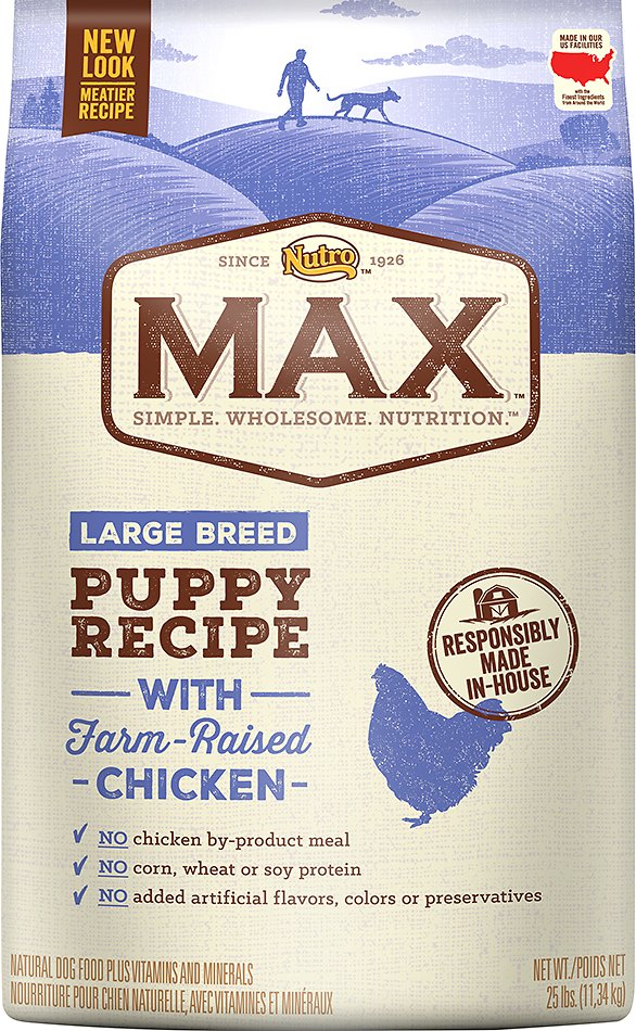 Nutro Max Large Breed Puppy Natural En Meal Rice Recipe Dry Dog Food 25 Lb Bag Chewy