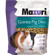 Mazuri Timothy-Based Guinea Pig Food, 5-lb bag