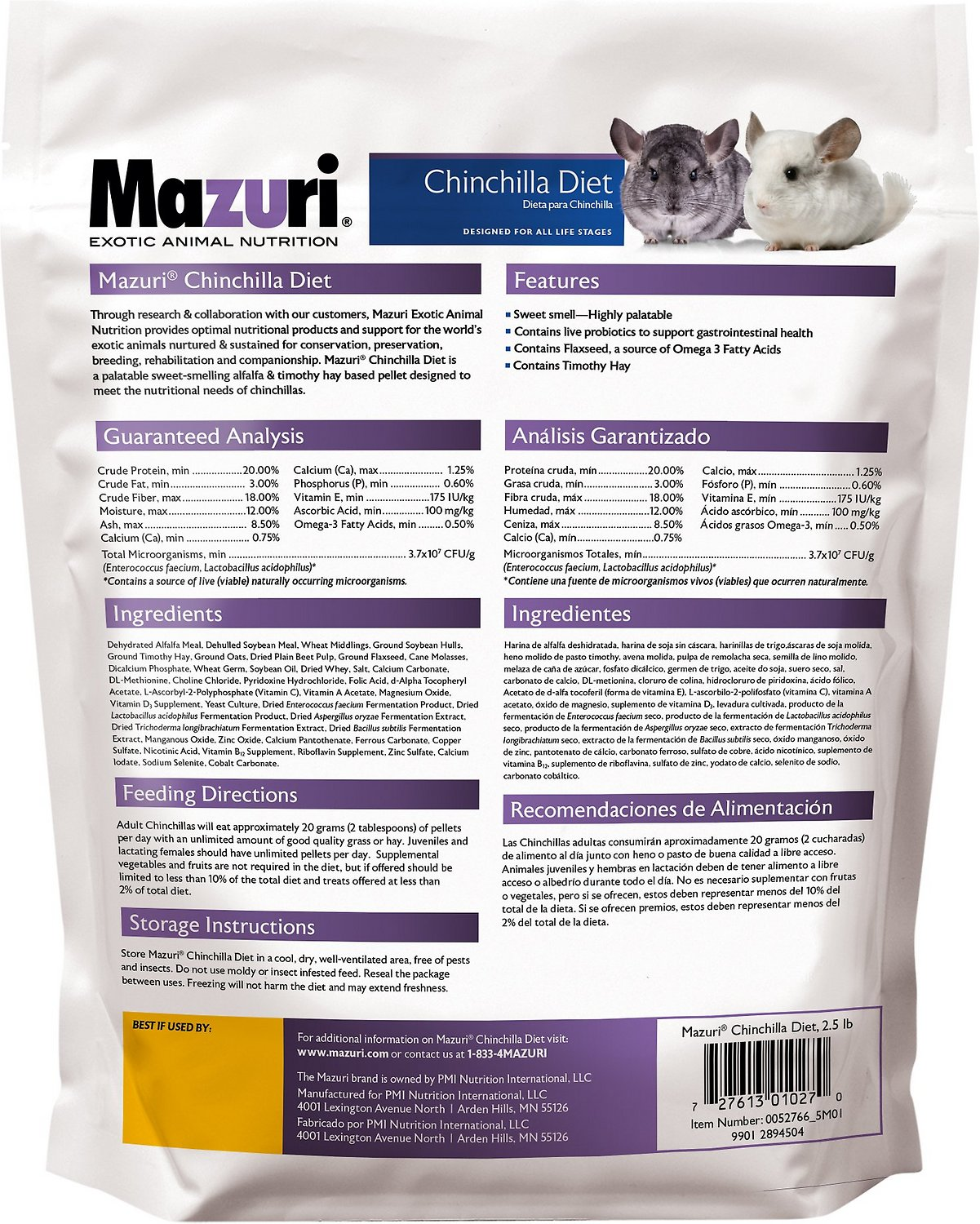 Might be the best chinchilla food for your chin, but this price is seriously rediculous, especially when they sell it on their own site for 1/2 the price for a 25lb bag! Read more. 13 people found this helpful. Helpful. Comment Report abuse. See all 7 reviews. Write a customer cheapwomensclothes.tks: 7.