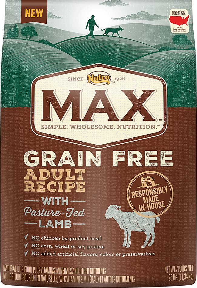 Nutro Max Grain-Free Adult Recipe with Pasture-Fed Lamb Dry Dog Food