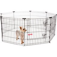 Frisco Dog Exercise Pen with Step-Through Door, Black, 24-in