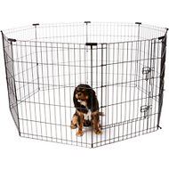 Frisco Dog Exercise Pen with Step-Through Door, Black, 30-in