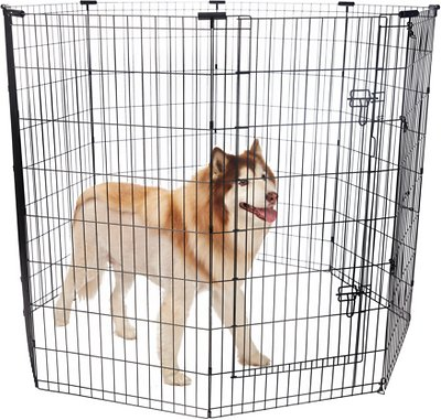 Frisco Dog Exercise Pen With Step Through Door Black 48