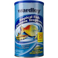Wardley Flake Tropical Fish Food, 6.8-oz jar