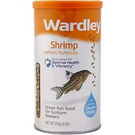 Wardley Shrimp Pellets Formula Bottom Feeder Fish Food, 9-oz jar