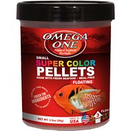 Omega One Super Color Floating Pellets Tropical Fish Food, 3.5-oz jar
