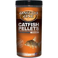 Omega One Sinking Shrimp Pellets Freshwater & Saltwater Fish Food, 8.25-oz jar