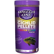 Omega One Medium Cichlid Pellets Floating Fish Food, 6.5-oz jar