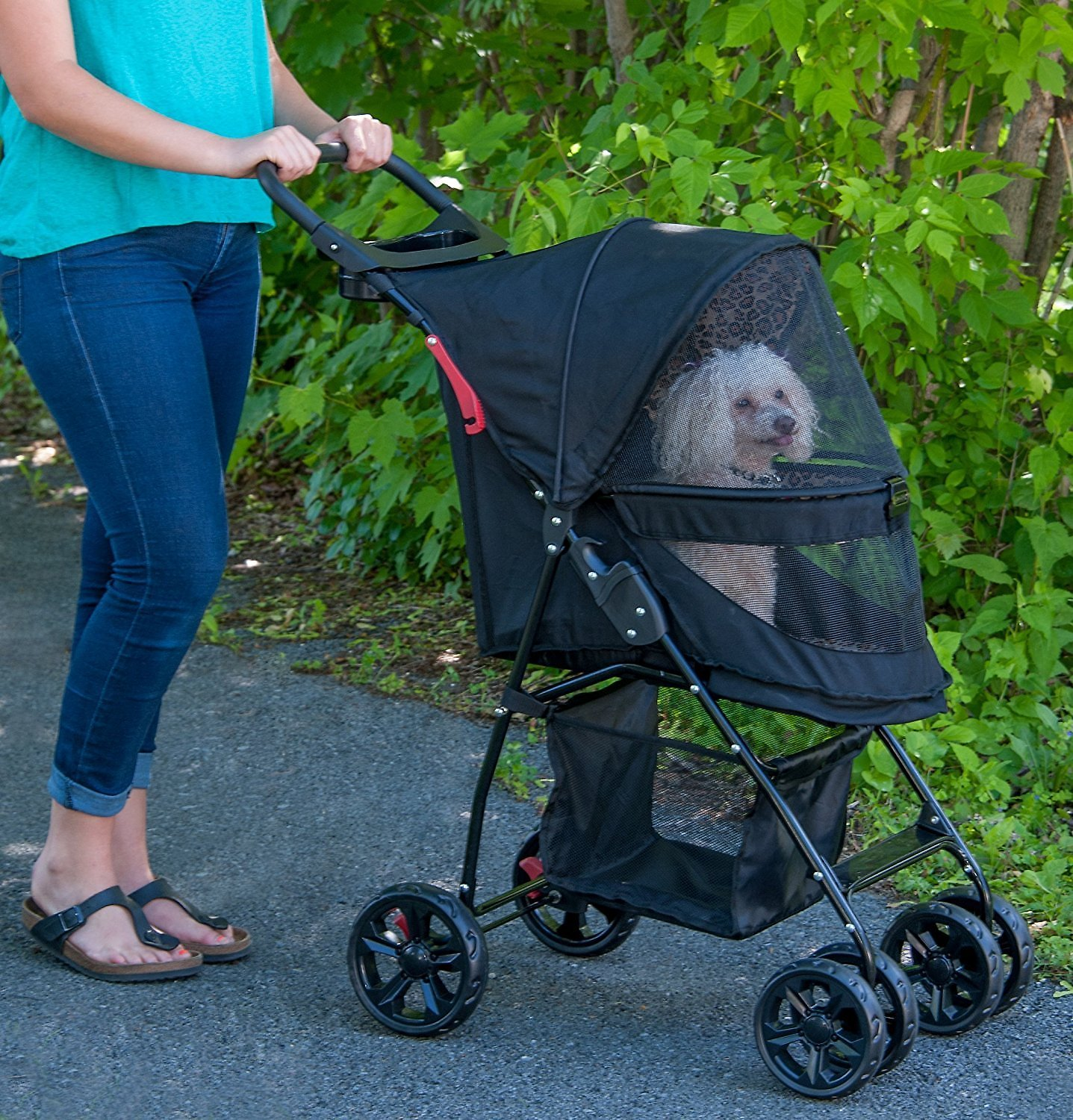Pet Gear Happy Trails Lite No-Zip Pet Stroller, Jaguar ...