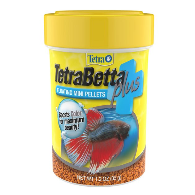 Tetra betta plus floating mini pellet fish food 1 2 oz jar for Food for betta fish