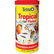 Tetra Color Tropical Flakes Fish Food, 7.06-oz jar