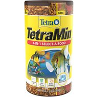 TetraMin 3 In 1 Flakes, Treats & Granules Fish Food, 2.4-oz jar