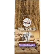 Nutro Wild Frontier Adult Woodland & Trail Recipe Grain-Free Venison Meal Dry Dog Food, 4-lb bag