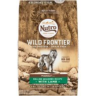 Nutro Wild Frontier Adult Rolling Meadows Recipe Grain-Free Lamb Dry Dog Food, 24-lb bag