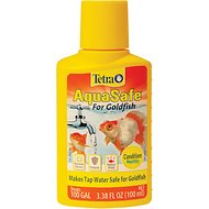 Tetra AquaSafe for Goldfish Tap Water Conditioner, 3.38-oz bottle