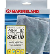 Marineland C-Series Canister Carbon Bags Filter Media, 2 count