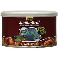Tetra JumboKrill Freeze-Dried Shrimp Freshwater & Saltwater Fish Treats, 1.40-oz jar