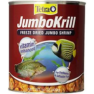 Tetra JumboKrill Freeze-Dried Shrimp Freshwater & Saltwater Fish Treats, 14-oz jar