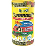 Tetra Community Select-A-Food Tropical Fish Food, 3.25-oz jar