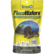 Tetra PlecoWafers Complete Diet for Algae Eaters Fish Food, 3.03-oz bag