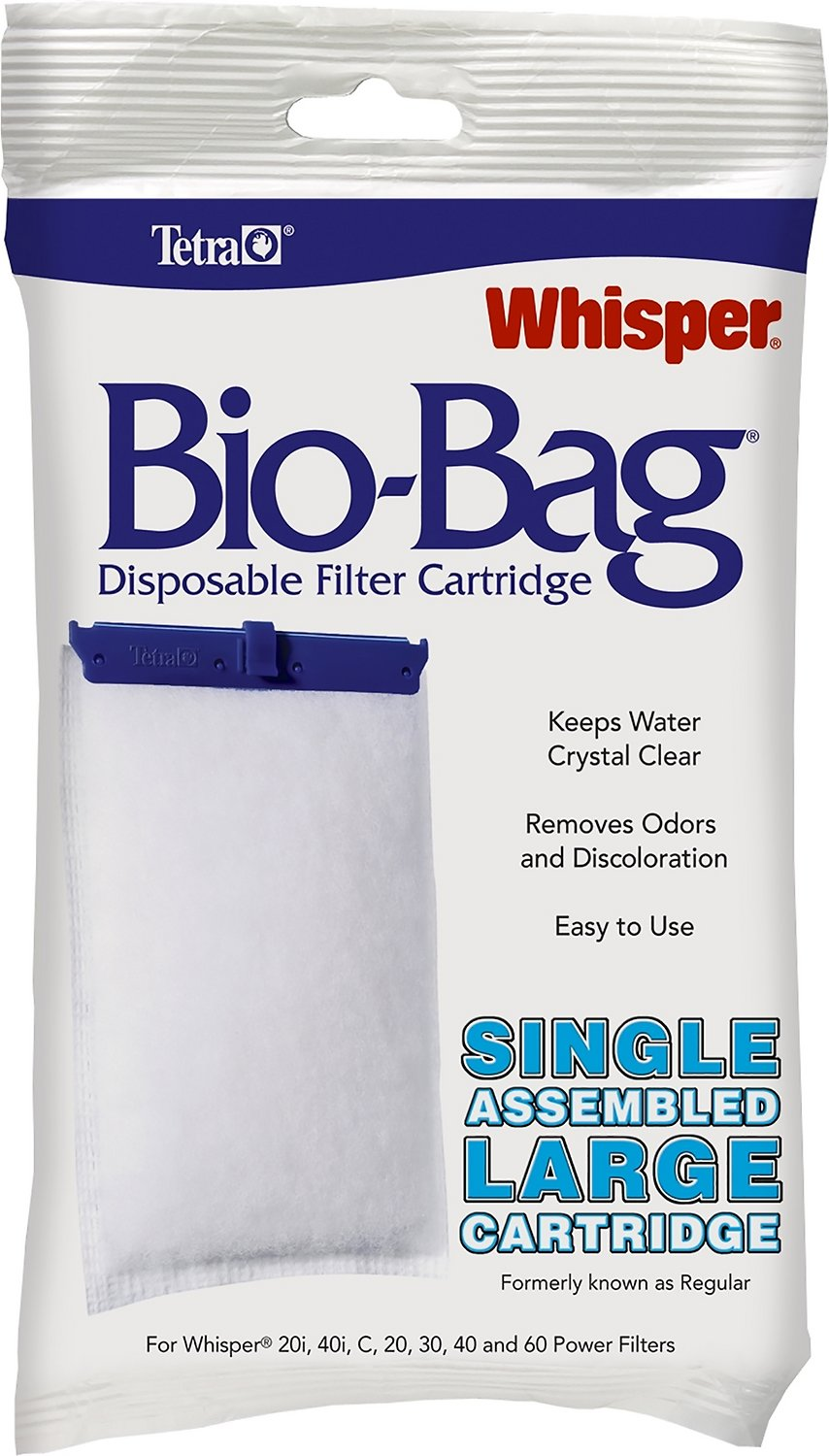 Tetra Whisper Bio Bags Large Filter Cartridge 1 Count