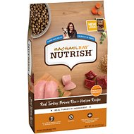 Rachael Ray Nutrish Natural Turkey, Brown Rice & Venison Recipe Dry Dog Food, 26-lb bag